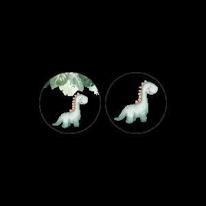 Αυτοκόλλητη Ετικέτα Δεινόσαυρος